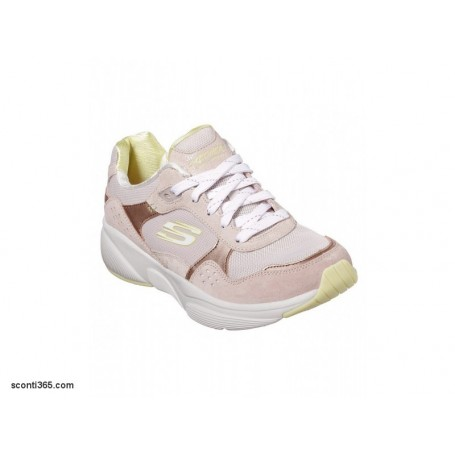 Skechers Scarpe Meridian No Worries, Donna - Art. 13020/TPYL (Taupe/Yellow)