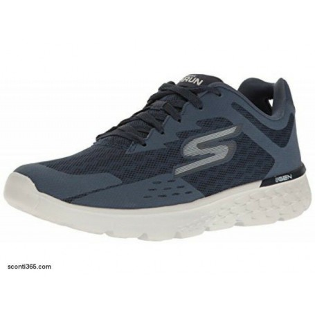 Skechers Performance Scarpe GO RUN 400 Disperse, Uomo-Art.  54353/NVGY(Navy/Grey)