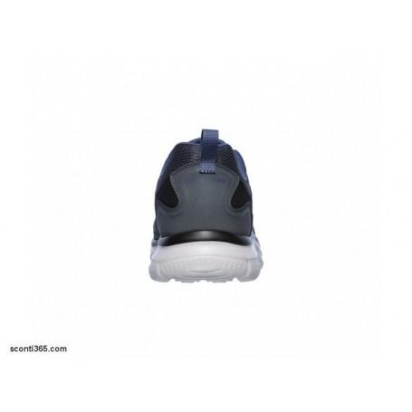 Skechers Scarpa Track Scloric, uomo Memory Foam, Art. 52631GYNV (GrayNavy)