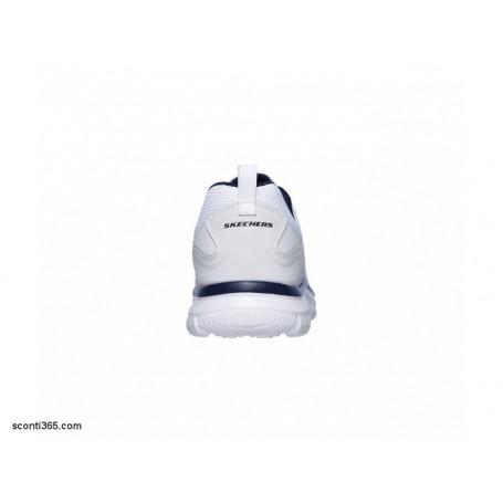Skechers Scarpa Track Scloric, uomo Memory Foam, Art. 52631WNV (WhiteNavy)