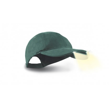 Konus Cappello con luci incorporate Powercap, Escursionismo, Caccia - Art. 3922 (Verde)