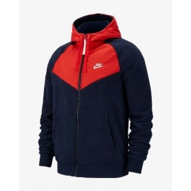 Ccappuccio Art929114 Nike E SportswearUomo Zip Intera Felpa 451obsidianhabanero Redsail 3LAR5q4j
