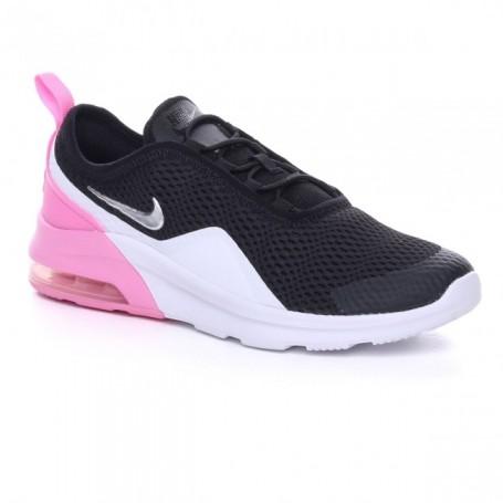 Nike Scarpe Air Max Motion 2 (PSE), Junior - Art. AQ2747-001 (Black/Metallic Silver-Pink)