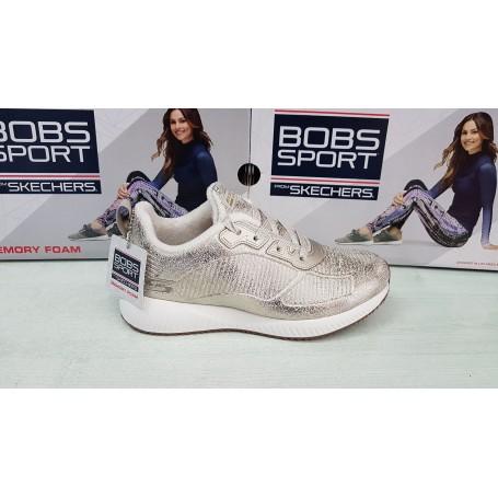 online store ef1ca 54bb8 Skechers Scarpe Bobs Squad Sparkle Life, Memory Foam- Art. 33155/CHMP  (Champagne)