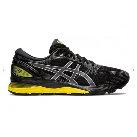 Asics Scarpe running Gel Nimbus 21, Uomo -Art. 1011A169-003 (Black/Lemon Spark)